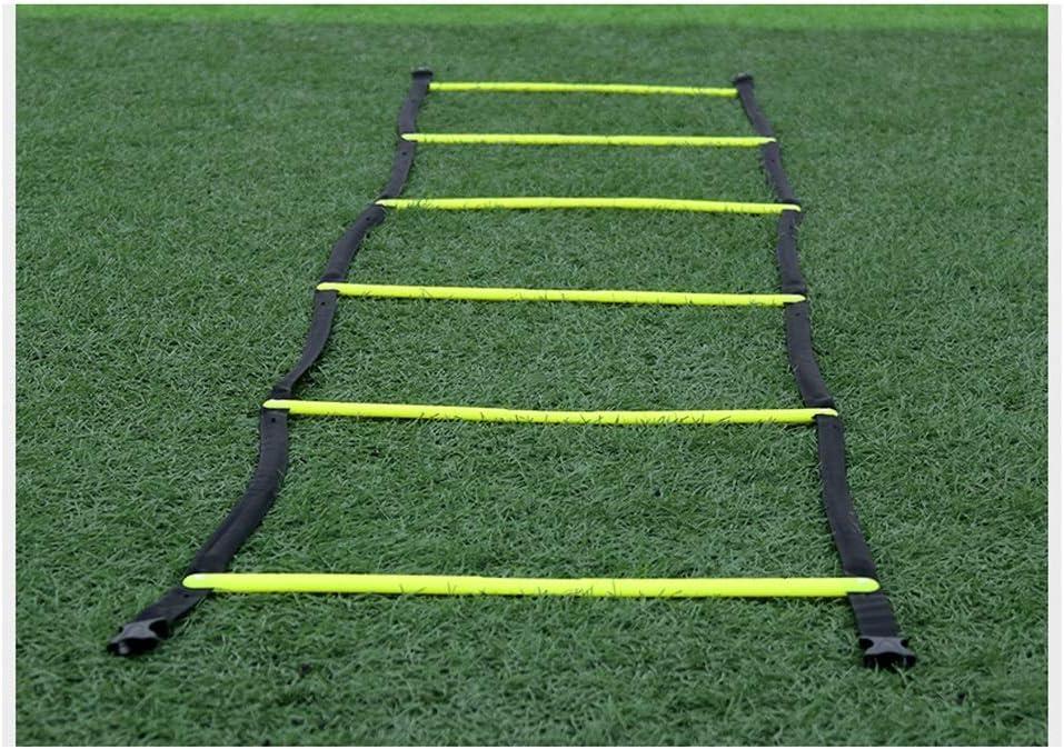UanPlee 6 Entrenamiento De Fútbol Entrenamiento De Capacidad De Equilibrio Rejilla Ágil Escalera/Ritmo Ágil De Baloncesto De Formación De Jóvenes 3m Escalera De Formación De Agilidad Cerebelo (9.84t): Amazon.es: Deportes y aire