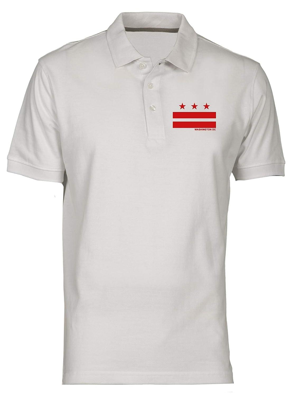 Polo por Hombre Blanco DEC0459 Washington DC Flag: Amazon.es: Ropa ...