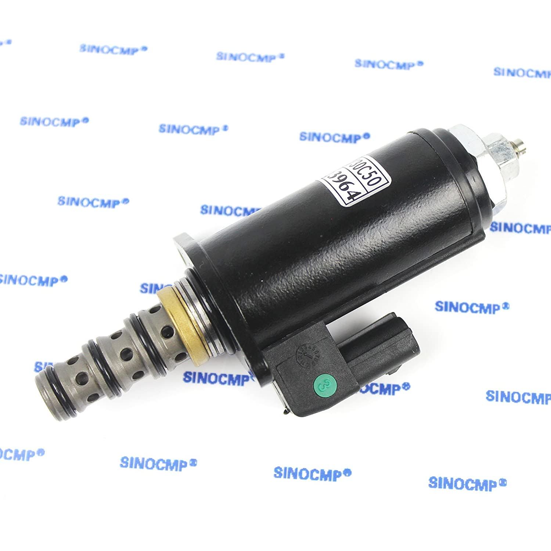 SINOCMP Hydraulic Pump Solenoids for XCMG//SANY Excavator Solenoid Parts KDRDE5K-31//30C50-140 Solenoid Valve 3 Month Warranty