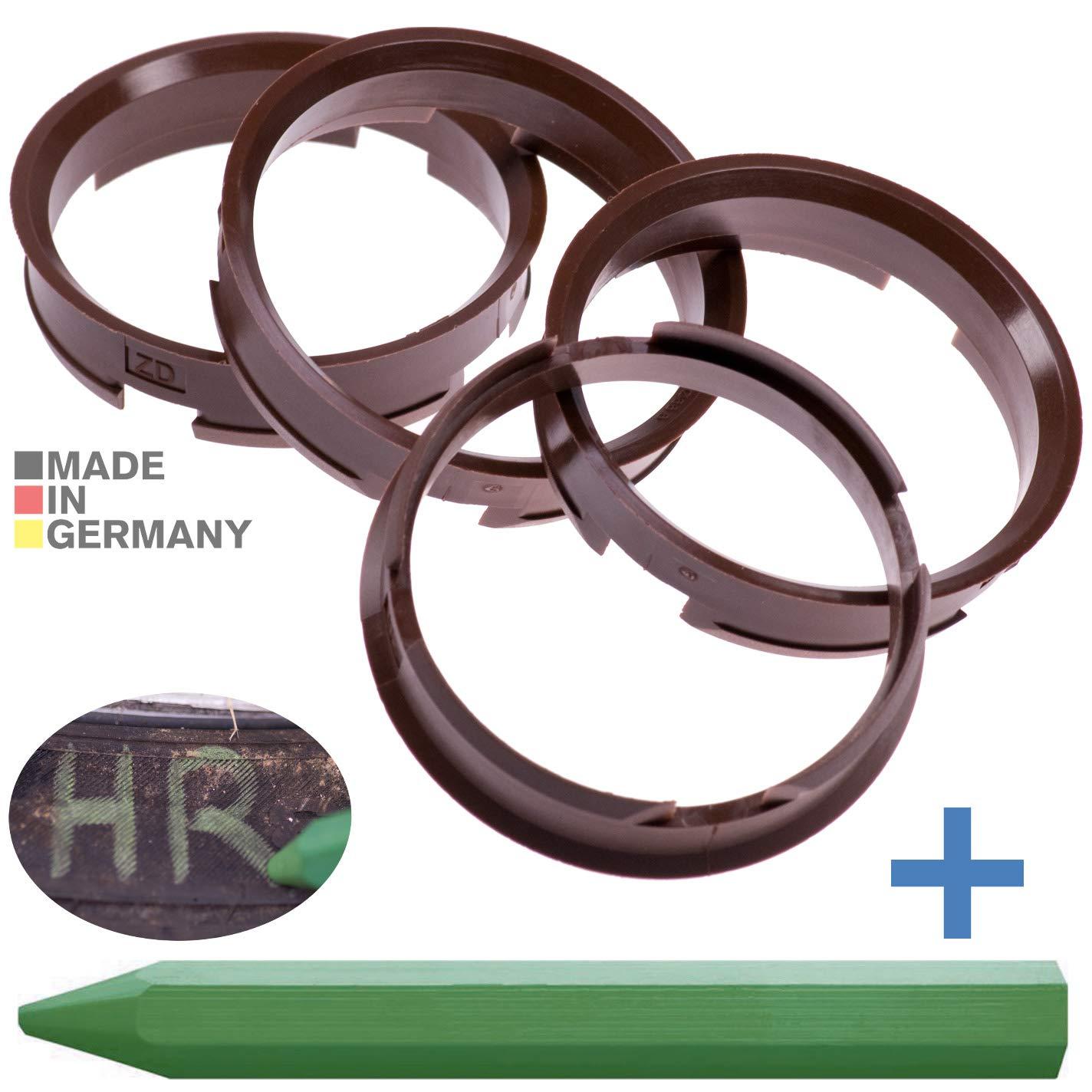 65,1 mm 4 x set anillas de centrado llantas de aluminio 66,6 mm