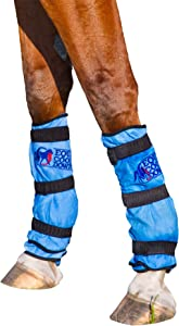 Equi Cool Down Equine Cooling Leg Wraps - Blue