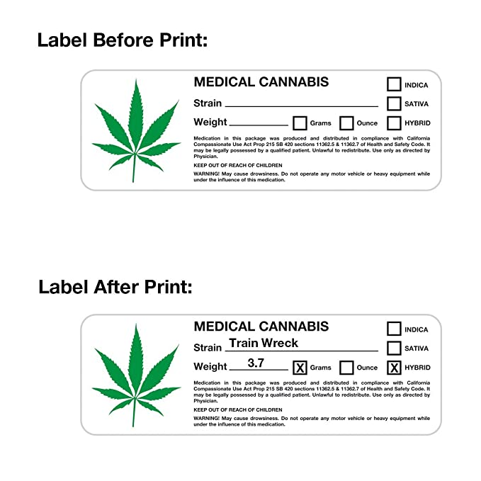 Amazon.com : Compact THC Printer - Medical Cannabis Label Printer : Office Products