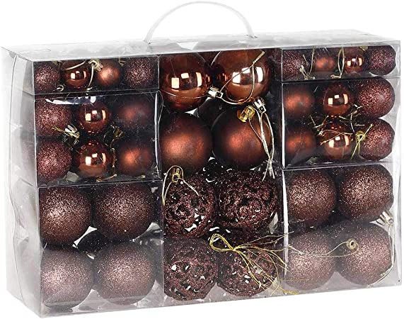 Bakaji Confezione 100 Palline di Natale Colore Rosso Diametro 3//4//6 cm Addobbi e Decorazioni per Albero di Natale