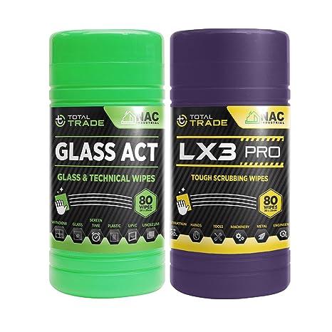 NAC Industrial profesional Toallitas húmedas total Trade Glass Act – Toallitas, ventana, toalla Cristal