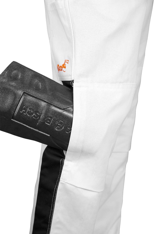 Malerhose Stuckateur Putzer Arbeitshose Weiß mit Kniepolstertaschen - Maleranzug Made Made Made in EU - 100% BW 260 gm - Kermen B071G6F9ZB Arbeitshosen Vielfalt 20308c