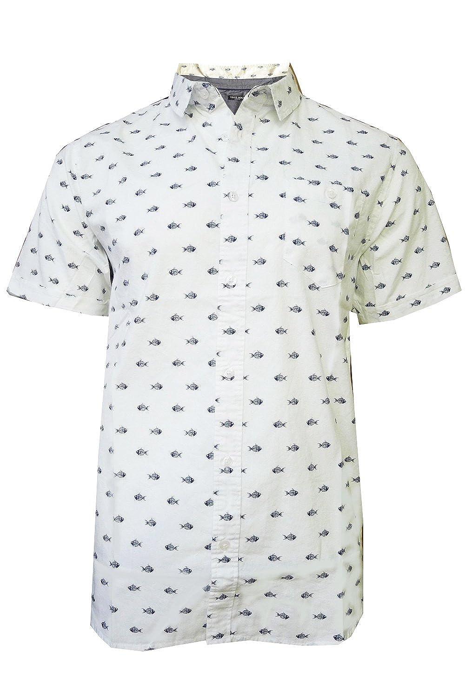 Brave Soul - Camisa Casual - Camisa - para Hombre Blanco Blanco ...