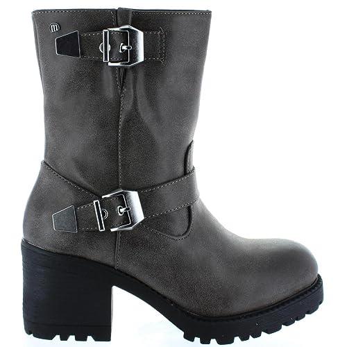 MTNG Botines de Mujer 51220 SUEVO Moka, 39: Amazon.es: Zapatos y complementos