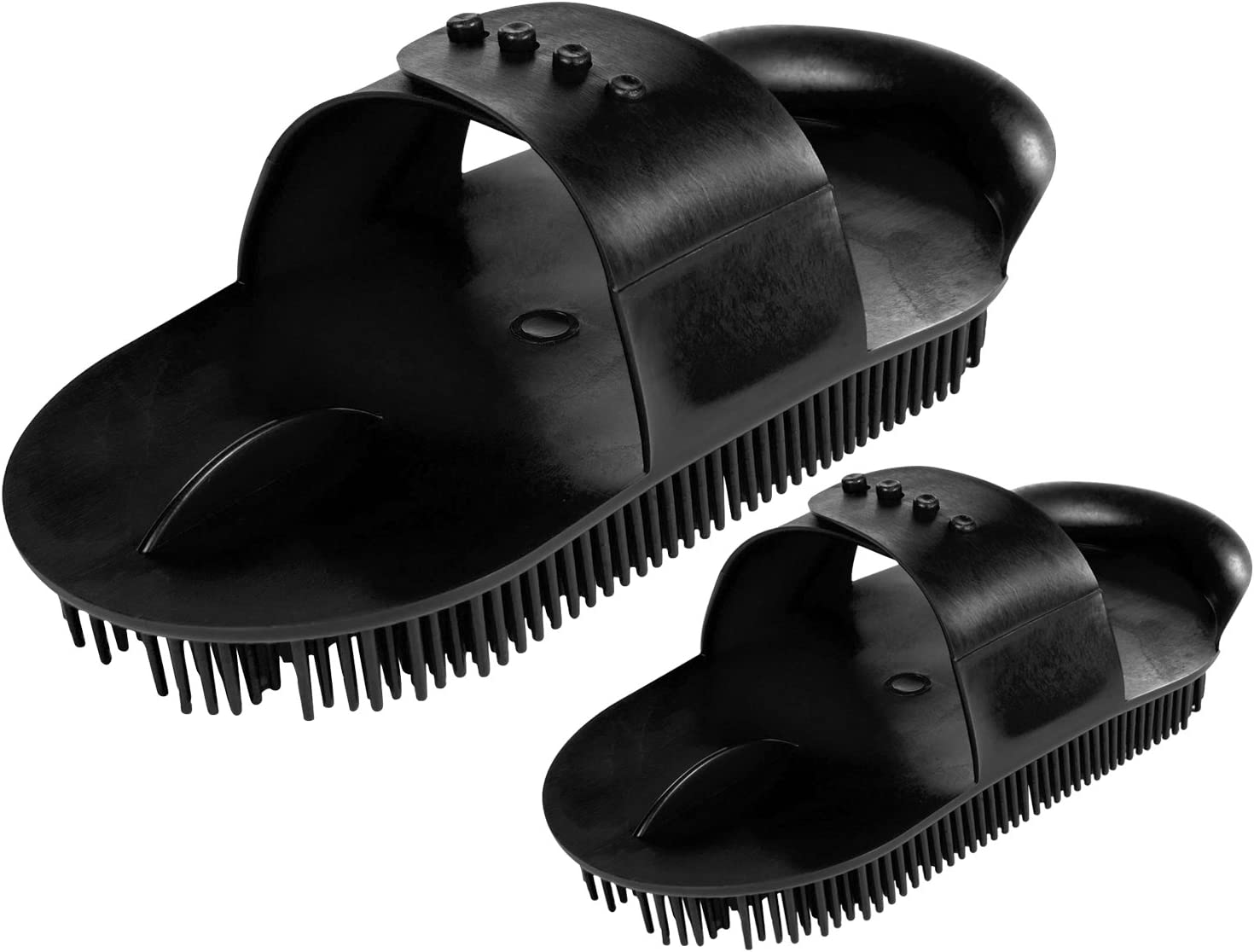 Plastic Curry Comb with Adjustable Strap for Horse Pony Grooming Care Available in Two Sizes AND Tigerbox/® Antibacterial Pen!