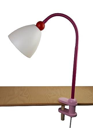 Niermann Standby Lampe Pince Lisa Bois E14 40 W Rose Magenta
