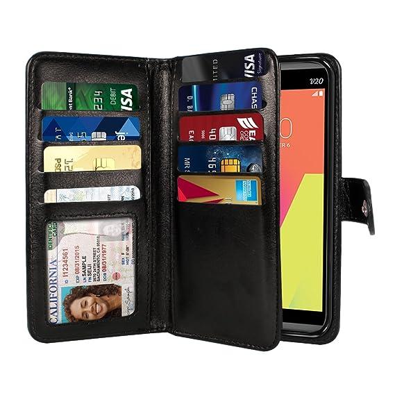 purchase cheap d95b4 e7b0e Amazon.com: NEXTKIN LG V20 Case, Leather Dual Wallet Folio TPU Cover ...