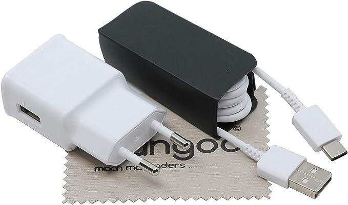 Cargador para Original Flash Rápido Samsung 2A + Cable de carga USB Tipo C 1,5m para S10 Galaxy S10 PlusGalaxy S10e Galaxy A30 Galaxy A50 con