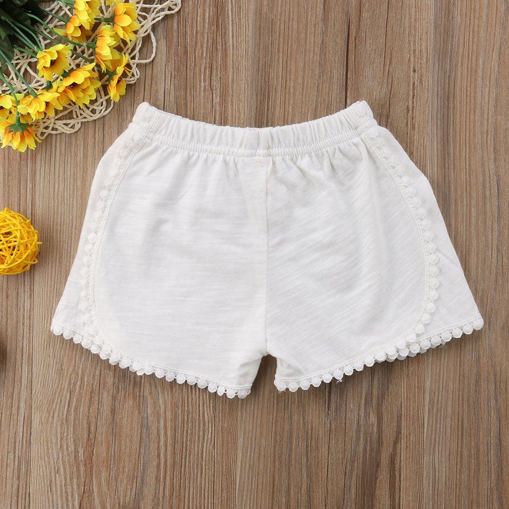 Summer Children Tassel Ball Cotton Shorts Girl Clothes Baby Fashion Pants Americana Skort
