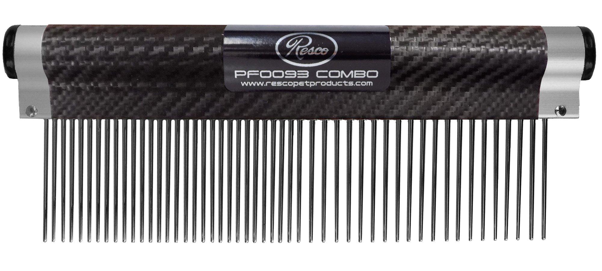 Resco USA-Made Wrap Comb for Pets, Combination, Carbon Fiber by Resco