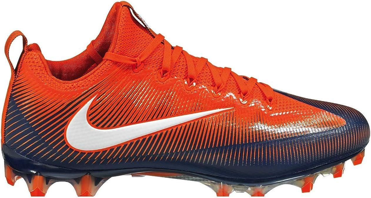 Orange, Brown, White Nike Vapor Untouchable Pro Carbon Football Cleats Shoes Mens Size 12.5