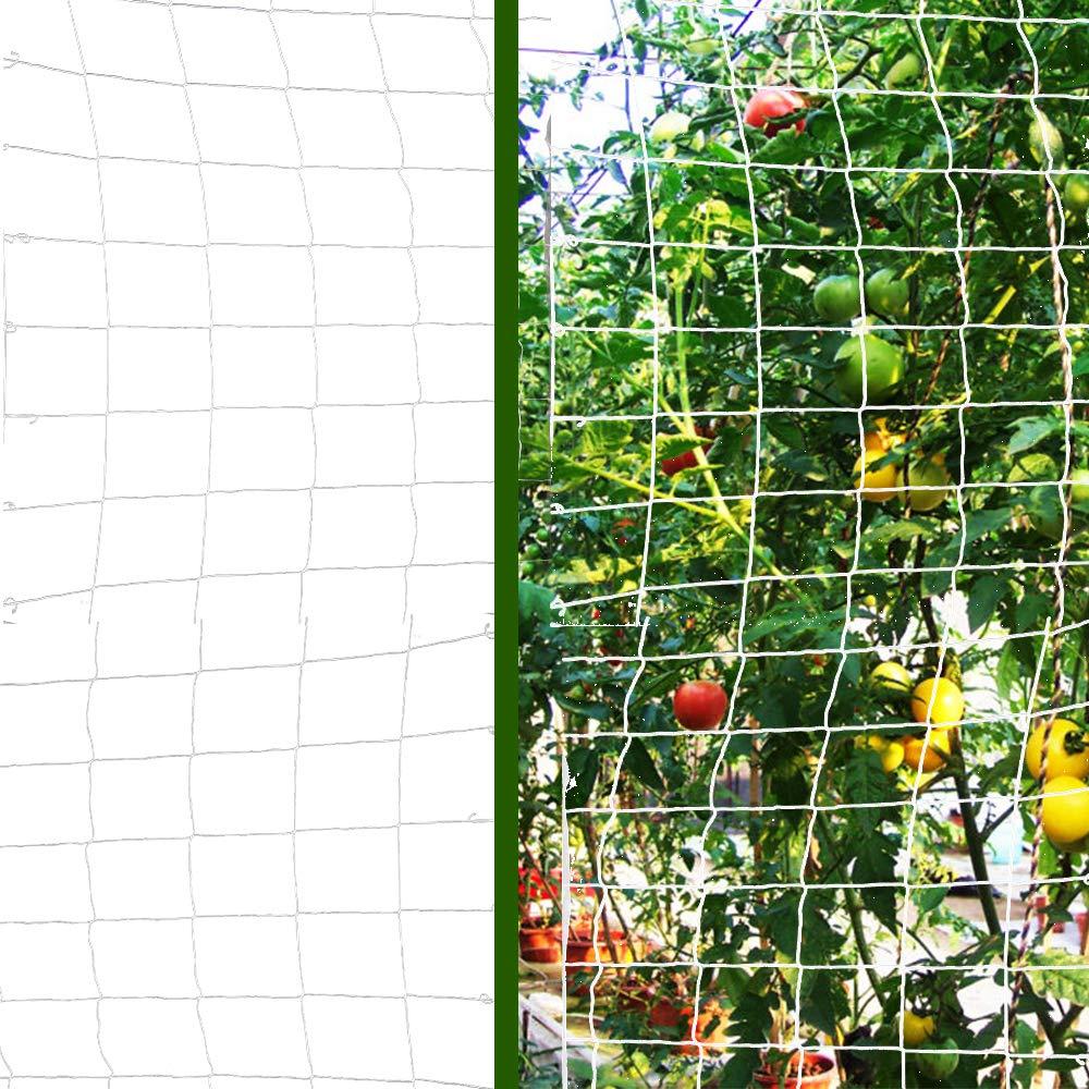 Fruits Vegetables Flowers-White,1 Pack 5x 15 Vlesgo Trellis Netting,Heavy-duty Polyester Plant Trellis Netting Soft Crop Netting Flexible String Garden Net Climbing