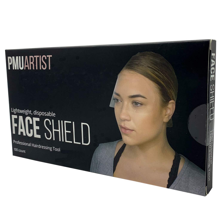 PMU Artist - 100 PCS Eyebrow Tattoo Aftercare Shower Shield Bath Visor Disposable Face Mask for Eyelash Extension Kit, Fake Bangs, Lash Shampoo, Eyebrow Extensions, Microblading Kit, Eyebrow Makeup
