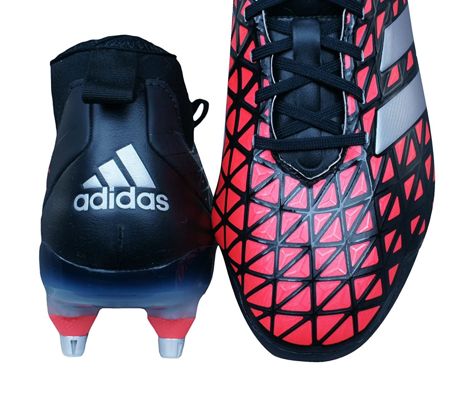 Kakari Force SG - Crampons de Rugby - Noir/Argent/Rouge - Taille 41.3 iN0mP
