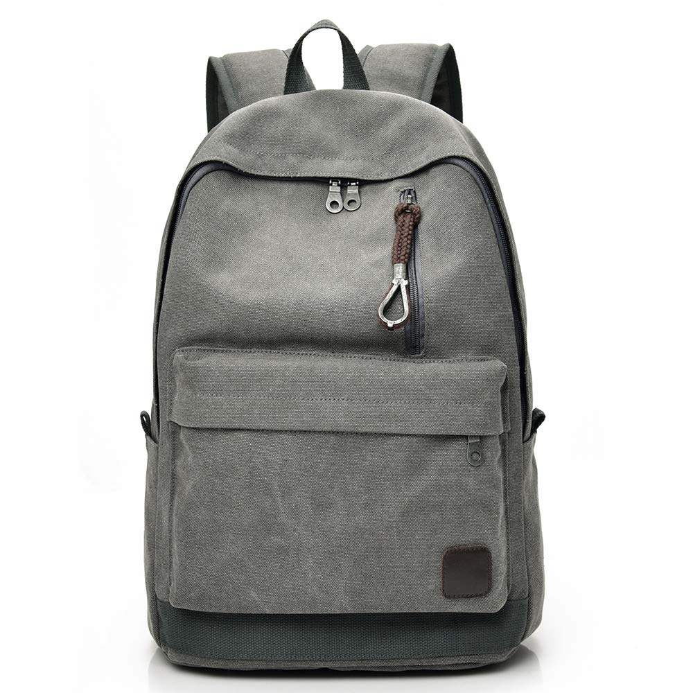 Canvas Backpack,Casual Rucksack,Computers Laptop Daypacks, College Campus Bag
