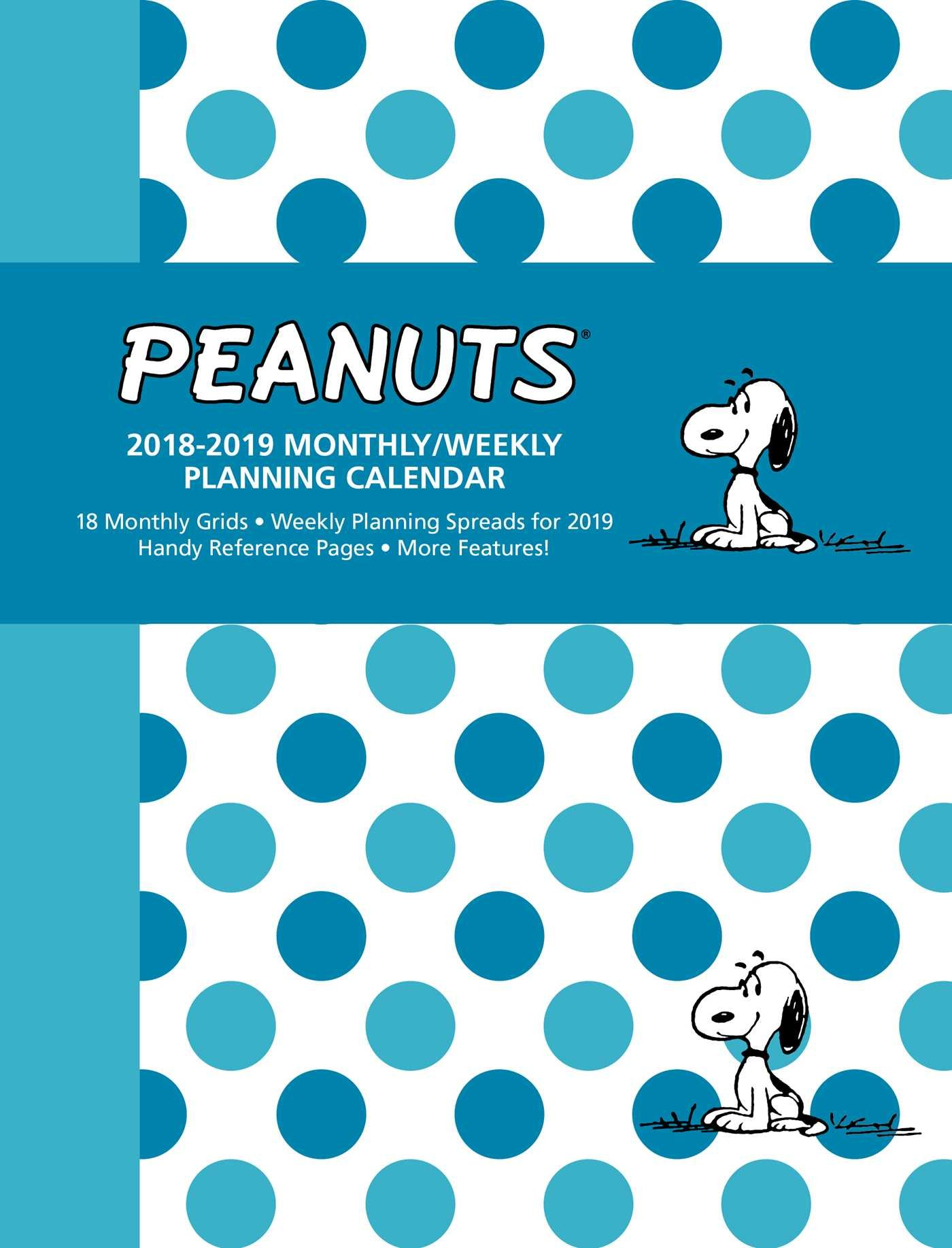 Peanuts 2018-2019 Monthly/Weekly Planning Calendar: Peanuts ...