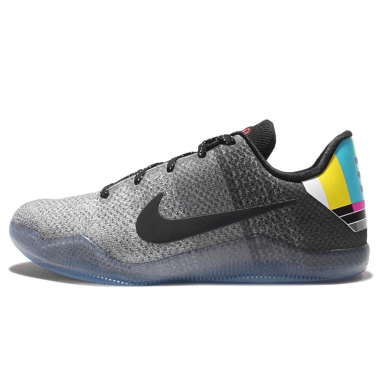 sports shoes 2b188 4c777 Nike Kid's Kobe XI GS, TV TEST CARD-WOLF GREY/BLACK-COOL GREY, Youth Size  3.5: Amazon.ca: Shoes & Handbags