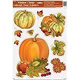 Pumpkin Harvest Fall Window Cling Sheet