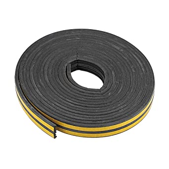 Total 32.8 Feet Long Black 2Pcs uxcell Foam Tape Adhesive Seal Strip 9mm Width 4mm Thick