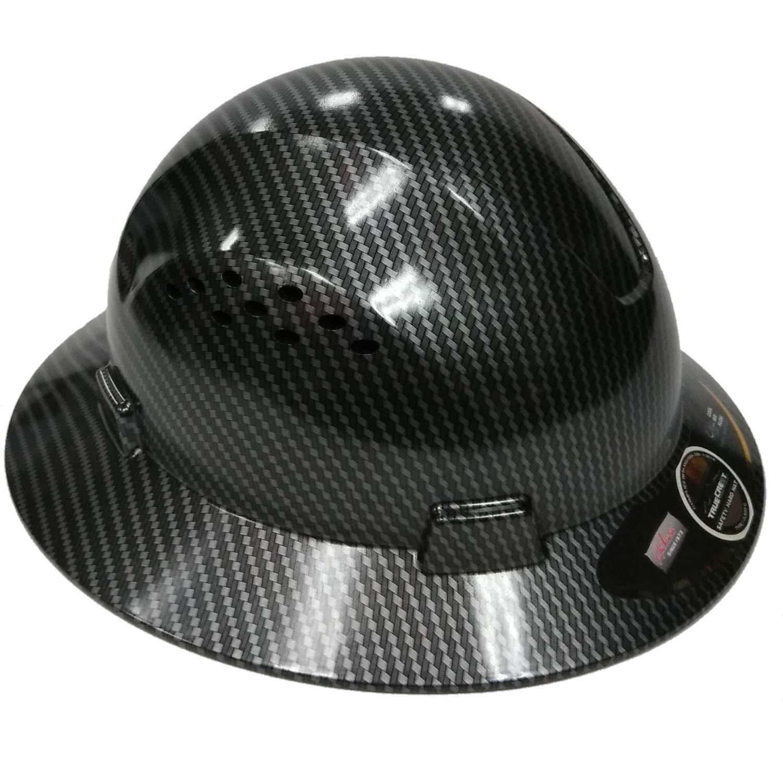 Amazon.com: Casco de seguridad HNTE-negro/plata de fibra de ...