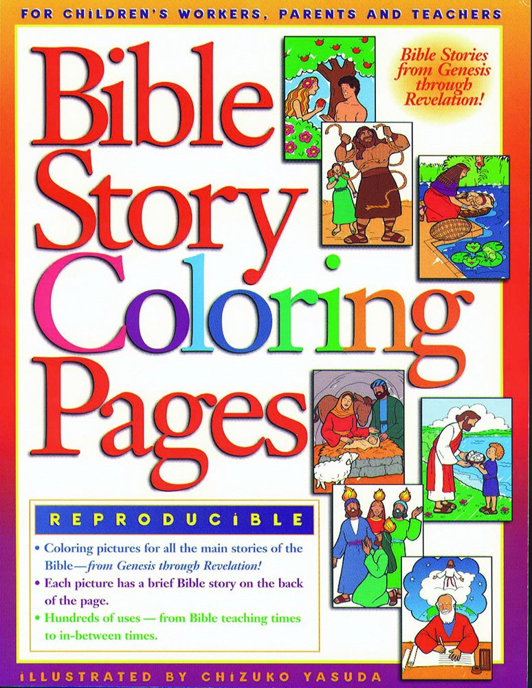 bible story coloring pages 1 coloring books gospel light 9780830718696 amazoncom books