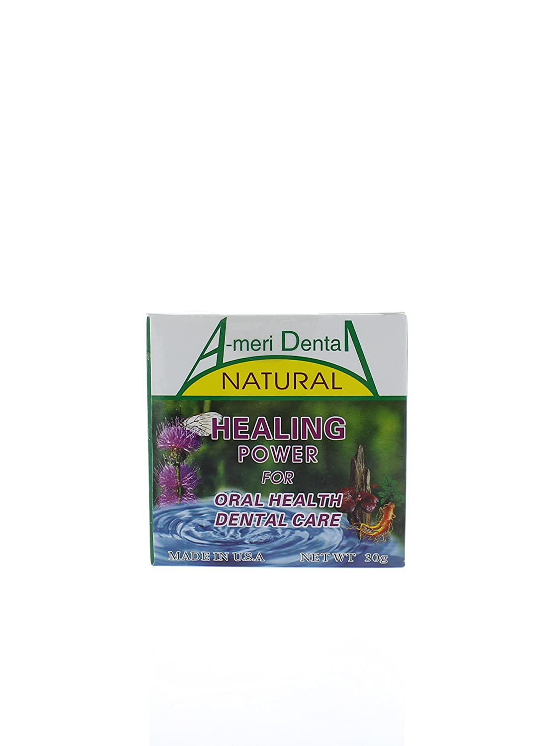 Total Oral Care Specific for Gingival Recession, Periodontitis, Loose Tooth, Gum Pain, Tooth Sensitivity, Tooth Whitening, Oral Refreshment etc. 100 Organic Plant Powder. Golden Metal Product. Made in USA