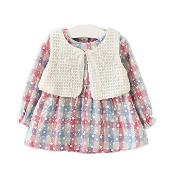 492fb631c6a4c Candykids キッズワンピース フォーマル女児 キッズ 服 子供 長袖 女の子 ガールズ ワンピース 2点セット 韓国
