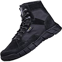 FREE SOLDIER Men's Tactical Boots 6 Inches Lightweight Breathable Military Boots for Hiking Work Boots