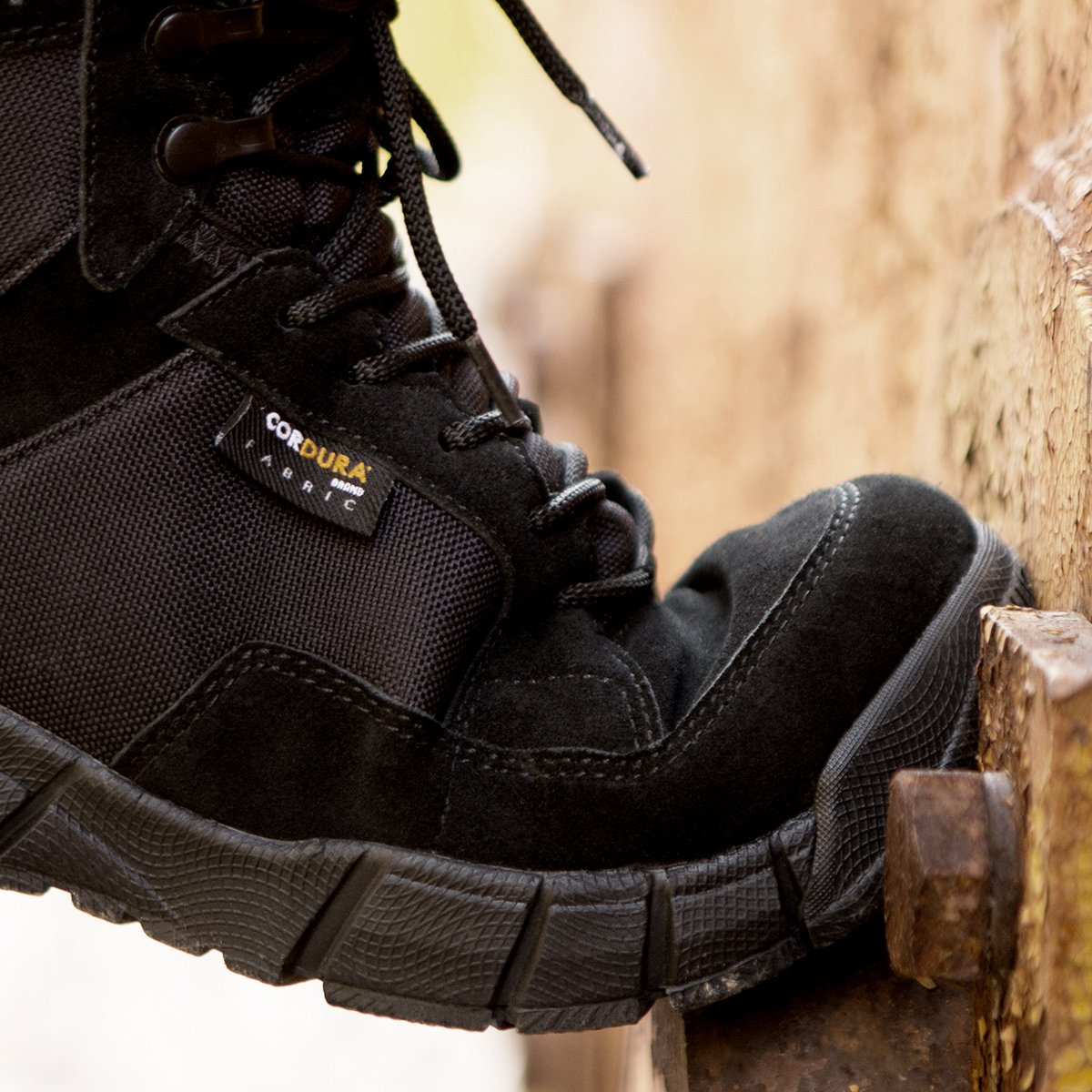 FREE SOLDIER Men's Tactical Boots 6'' inch Lightweight Military Boots for Hiking Work Boots Breathable Desert Boots (Black, 12.5) by FREE SOLDIER (Image #4)