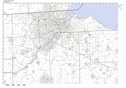 Lucas Ohio Map.Amazon Com Lucas County Ohio Oh Zip Code Map Not Laminated Home