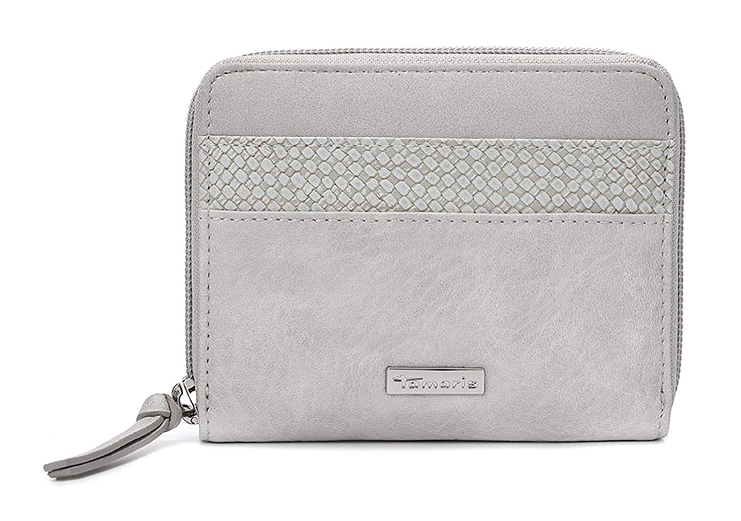 Details zu Tamaris Damen Tasche Khema Shiny Crossbody Bag M light grey comb (grau)