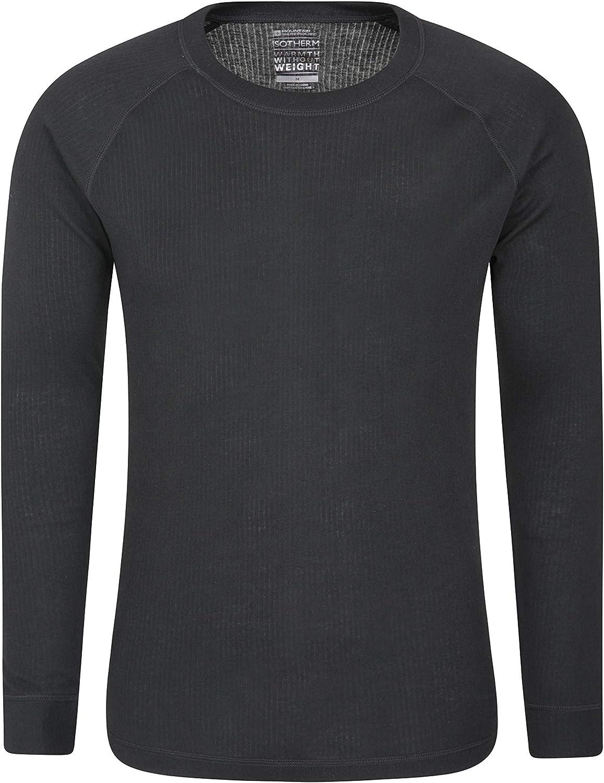 Mountain Warehouse Camiseta térmica Talus para Hombres - Secado rápido, Cuidado fácil, de Mangas largas, con Cuello Redondo, Transpirable