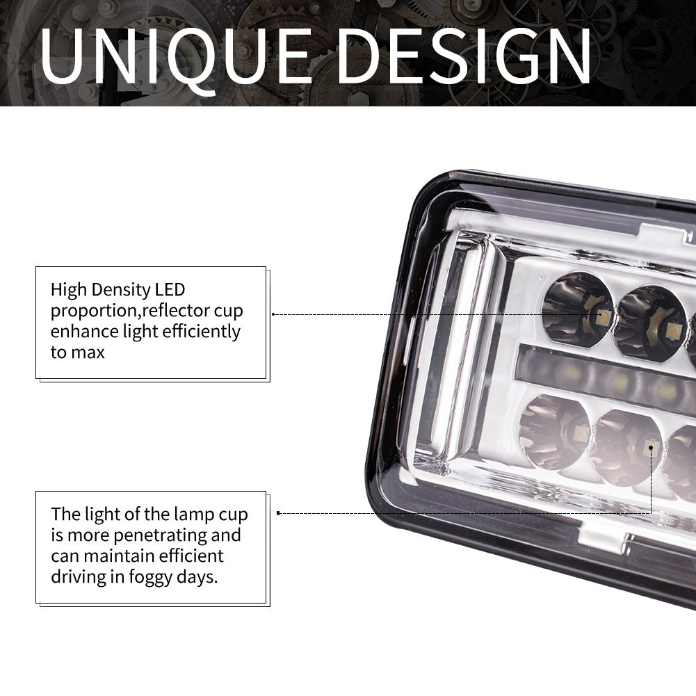 2 Years Warranty Liteway Pair 42W LED Fog Light for Ford F150 2015-2017 Daytime Running Light DRL