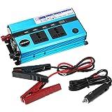 KKmoon Auto-Inverter DC 24V bis AC 220V, Inverter 500W Auto-Wechselrichter 50Hz mit 4USB-Anschlüssen / Spannungsanzeige
