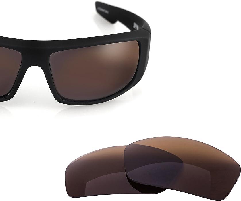 7a8e87910c Amazon.com  LenzFlip Lenses Compatible with Spy LOGAN - Brown  Clothing