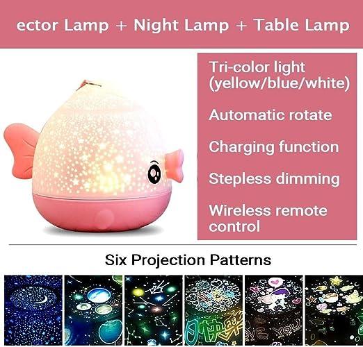 Proyector de luz Nocturna Girar Cielo Estrellado Estrella Lámpara ...