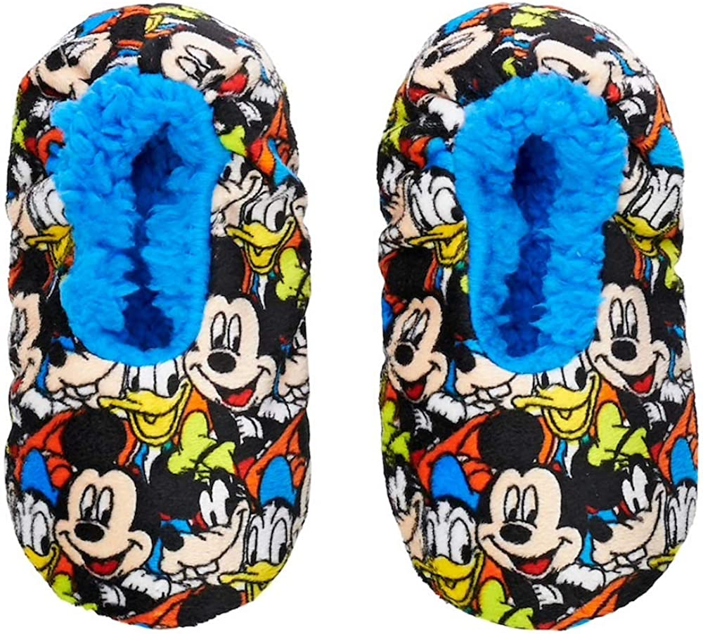 Disney's Mickey Mouse, Goofy & Donald Duck Toddler Boy Slipper Socks, Size 3T-4T