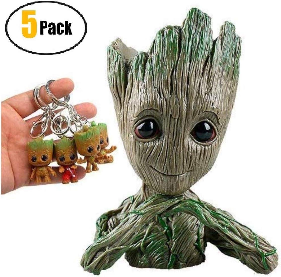 Groot Flowerpot Treeman figuras de acción – Guardianes de la ...