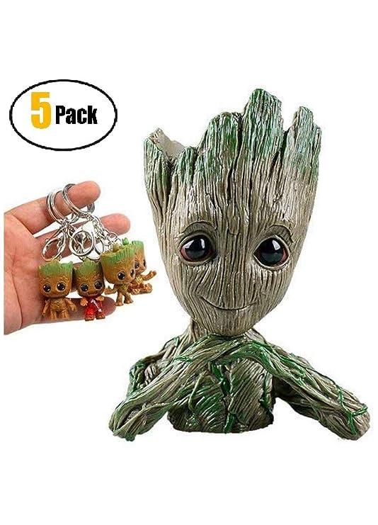 Groot Flowerpot Treeman figuras de acción - Guardianes de la ...