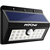 Solar Lights, Mpow 20 LED  Motion Sensor Security Lights, Home Security Solar Lights 3-in-1 Wireless Weatherproof Outside Sensor Lights for Pathway, Garden, Pool, Walkway, Driveway