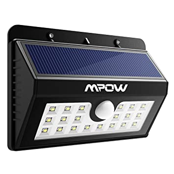 Solar Lights, Mpow 20 LED Motion Sensor Security Lights, Home Security  Solar Lights 3