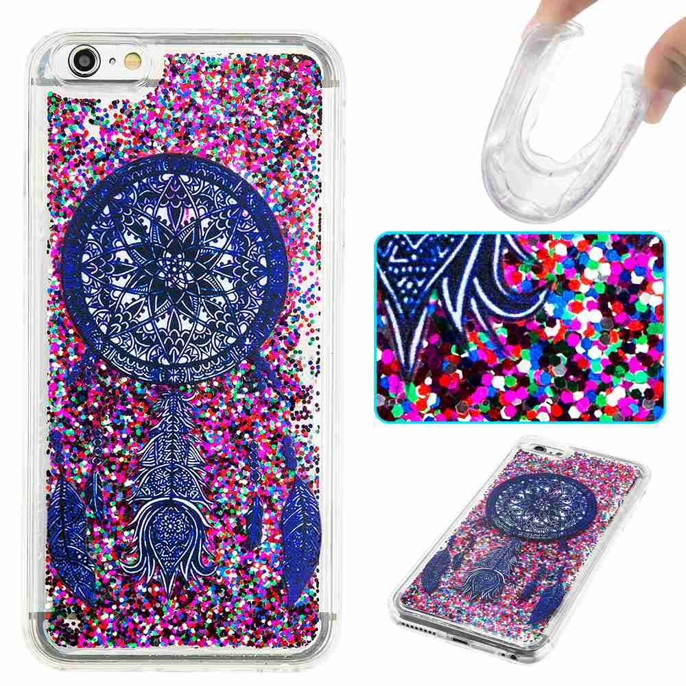 Iphone 6 Case 6s Arsue Cool Moving Bling Casing 4 4s Softcase Motif Owl Glitter Sparkle Design Printed Liquid Quicksand Transparent Soft For