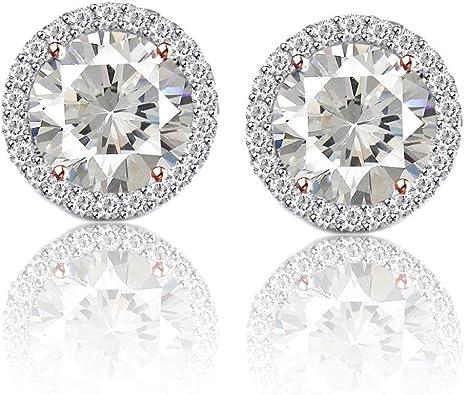 Prong Set Earrings Moissanite Diamond Studs Unique Diamond Earrings 14k18k Diamond Stud Diamond Earrings