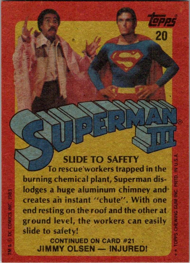 1983 Topps Superman III #20 Slide to Safety at Amazon's