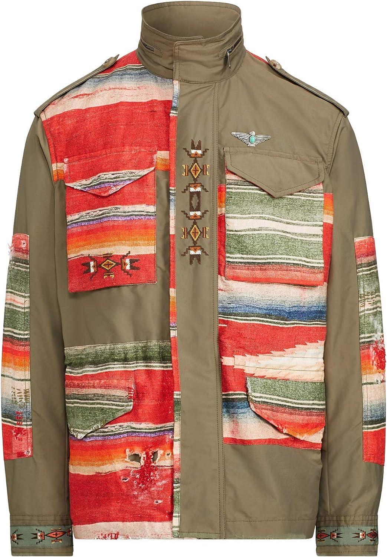 Ralph Lauren $2495 Polo Mens Southwestern Indian Aztec Field Jacket Italy Olive Green Medium