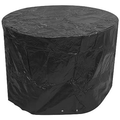Woodside - Bâche pour meuble de jardin - ronde/étanche - noir - petite taille