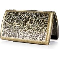 Hongyantech Caja de Cigarrillos Hecha de Acero, Caja de Cigarrillos para Las Mujeres, Caja de Cigarrillos Antigua Caja…